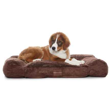 "AKC Premium Memory-Foam Dog Bed - 40x30"" in Brown - Closeouts"