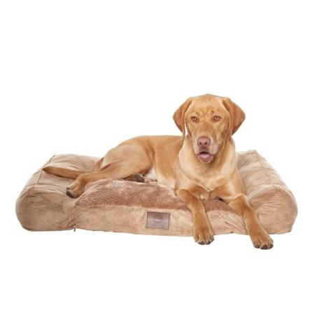 "AKC Premium Memory-Foam Dog Bed - 40x30"" in Tan"