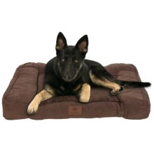 AKC Premium Memory-Foam Dog Sofa in Brown - Closeouts