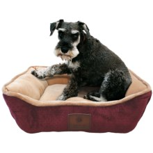 "AKC Premium Soft Cuddler Dog Bed - 26x22"" in Burgundy - Closeouts"