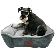 "AKC Premium Soft Cuddler Dog Bed - 26x22"" in Gray - Closeouts"