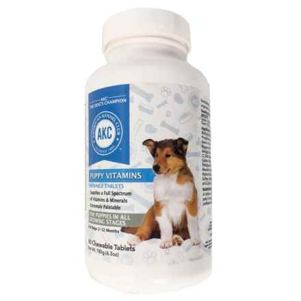 AKC Puppy Multivitamin Supplements - 60 Count in See Photo - Closeouts