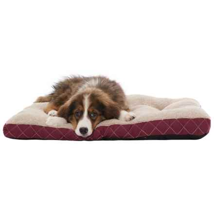 "AKC Quilted Crate Mat - 22x30"" in Burgundy - Closeouts"
