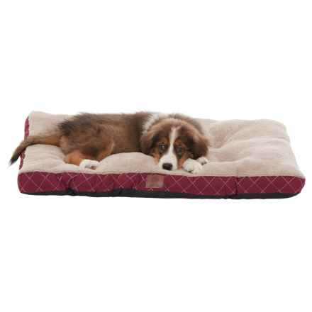 "AKC Quilted Crate Mat - 23x36"" in Burgundy - Closeouts"
