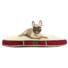"""AKC Sherpa Gusset Dog Bed - 27x36"""" in Brugandy - Closeouts"""