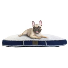 "AKC Sherpa Gusset Dog Bed - 27x36"" in Navy - Closeouts"