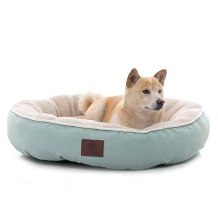 "AKC Solid Deluxe Round Dog Bed - 31"" in Blue - Closeouts"