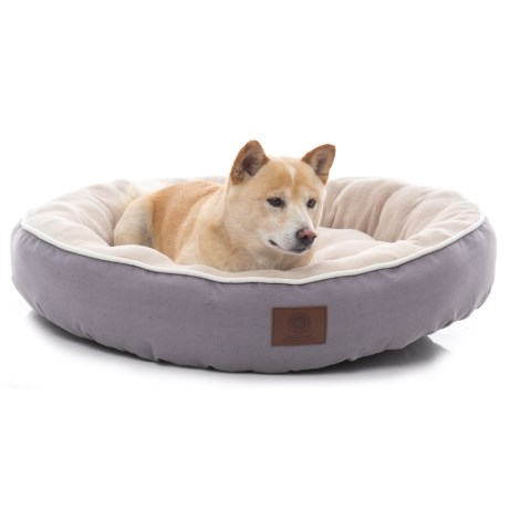 "AKC Solid Deluxe Round Dog Bed - 31"" in Gray"