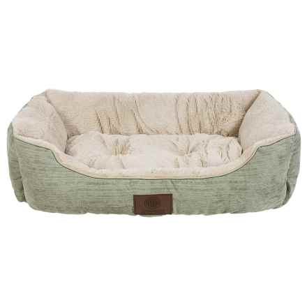 "AKC Spring Mason Cuddler Dog Bed - 28x20"" in Sage - Closeouts"
