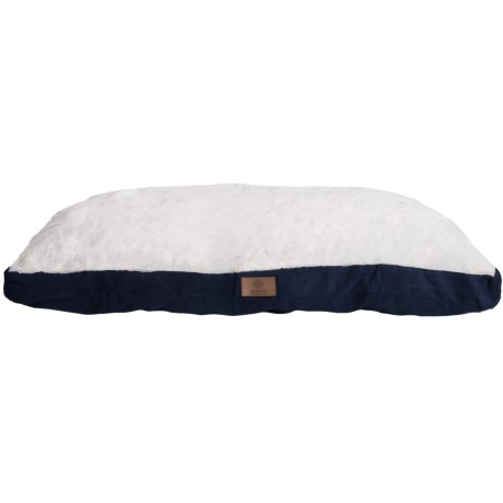 "AKC Sueded and Faux Fur Pet Bed- 35x44"" in Blue"