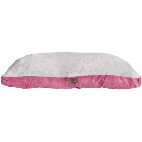 """AKC Sueded and Faux Fur Pet Bed- 35x44"""" in Pink"""