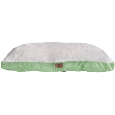 "AKC Sueded and Faux Fur Pet Bed- 35x44"" in Sage"