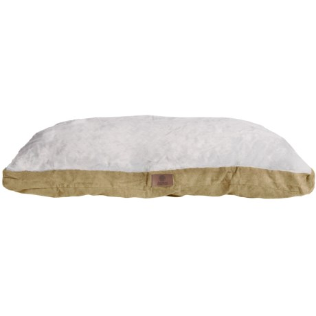 """AKC Sueded and Faux Fur Pet Bed- 35x44"""" in Tan"""