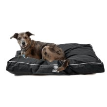 "AKC Water-Resistant Durable Gusset Dog Bed - 35x44"" in Black - Closeouts"