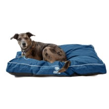 """AKC Water-Resistant Durable Gusset Dog Bed - 35x44"""" in Blue - Closeouts"""