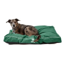 "AKC Water-Resistant Durable Gusset Dog Bed - 35x44"" in Green - Closeouts"