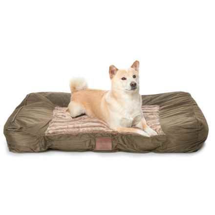 "AKC Wave Fur Sofa Dog Bed - 40x30"" in Brown - Closeouts"