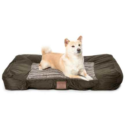 "AKC Wave Fur Sofa Dog Bed - 40x30"" in Gray - Closeouts"