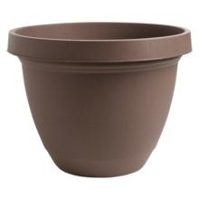 """Akro-Mils Infinity Indoor/Outdoor Planter Pot - 14"""" in Chocolate - 2nds"""