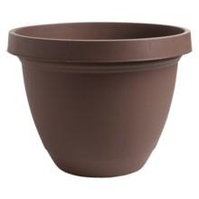 """Akro-Mils Infinity Indoor/Outdoor Planter Pot - 8"""" in Chocolate - Overstock"""
