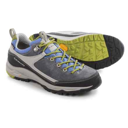 AKU Gea Low Gore-Tex® Hiking Shoes - Suede (For Women) in Dark Grey/Lilac - Closeouts