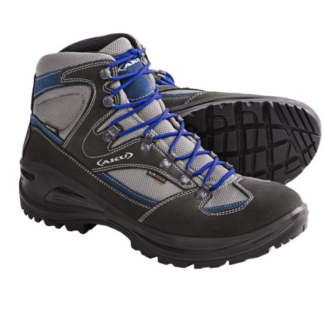 AKU Teton Gore-Tex® Hiking Boots - Waterproof (For Men) in Grey/Black/Blue
