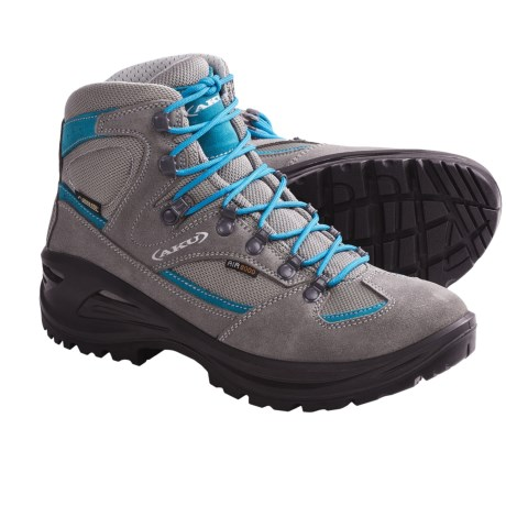 AKU Teton Gore-Tex® Hiking Boots - Waterproof (For Women) in Light Grey/Turquoise