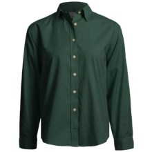 AKWA Brushed Cotton Twill Shirt - Long Sleeve (For Women) in Hunter - Closeouts
