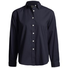 AKWA Brushed Cotton Twill Shirt - Long Sleeve (For Women) in Navy - Closeouts