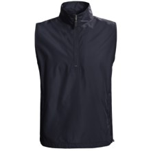 AKWA Wind Vest - Zip Neck (For Men) in Navy - Closeouts