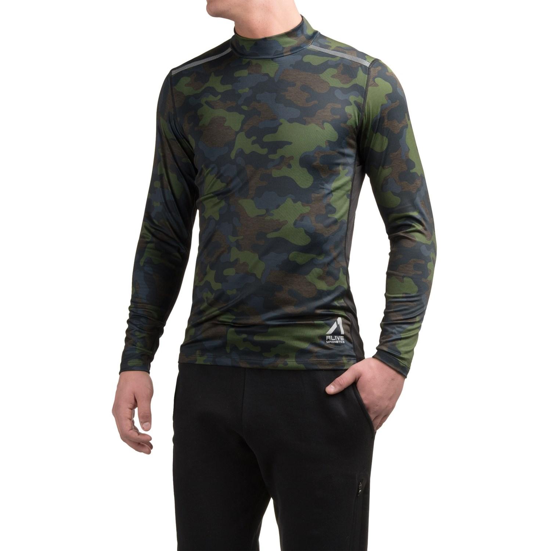 Al1ve camo compression mock neck shirt for men save 50 for Compression tee shirts for men