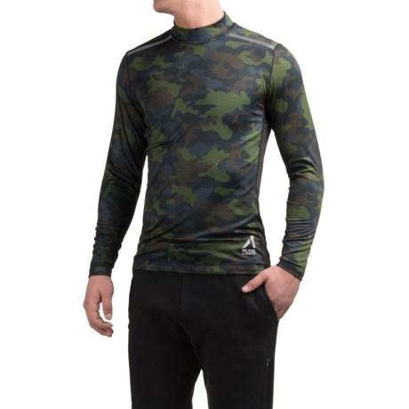 AL1VE Camo Compression Mock Neck Shirt - Long Sleeve (For Men) in Camo Green