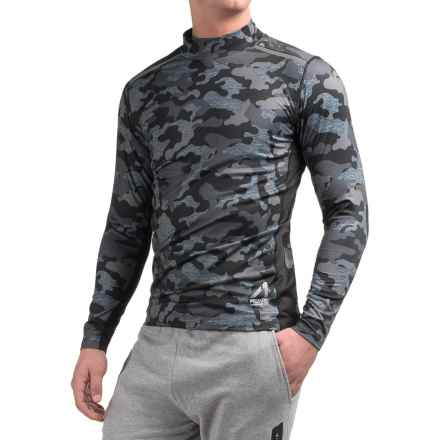 AL1VE Camo Compression Mock Neck Shirt - Long Sleeve (For Men) in Camo Grey - Closeouts