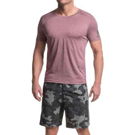 AL1VE Core Running Shirt - Short Sleeve (For Men) in Magenta Purple Heather - Closeouts
