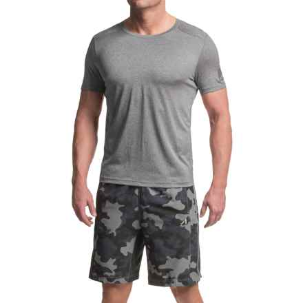 AL1VE Core Running Shirt - Short Sleeve (For Men) in Med Grey Heather - Closeouts