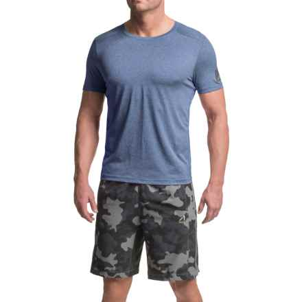 AL1VE Core Running Shirt - Short Sleeve (For Men) in Really Royal Heather - Closeouts