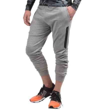 AL1VE Fleece Joggers (For Men) in Med Grey Space Dye - Closeouts