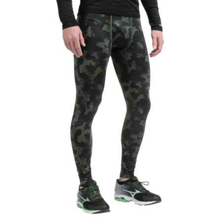 AL1VE Printed Base Layer Tights (For Men) in Black Distress - Closeouts