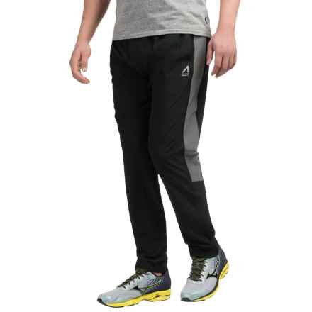 AL1VE Woven Stretch Running Pants (For Men) in Rich Black - Closeouts