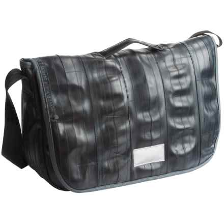 Alchemy Goods Jefferson 12L Messenger Bag - Limited Edition, Upcycled Bike Tube in Black - Closeouts