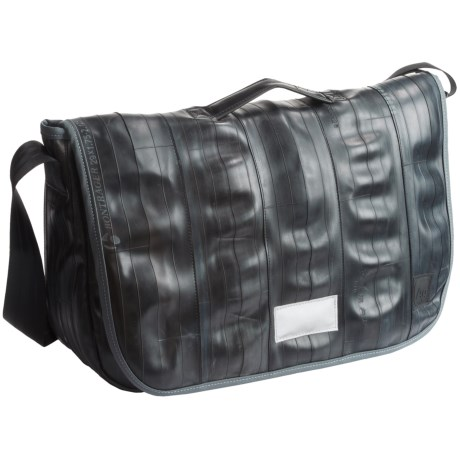 Alchemy Goods Jefferson Messenger Bag - Limited Edition, Upcycled Bike Tube in Black
