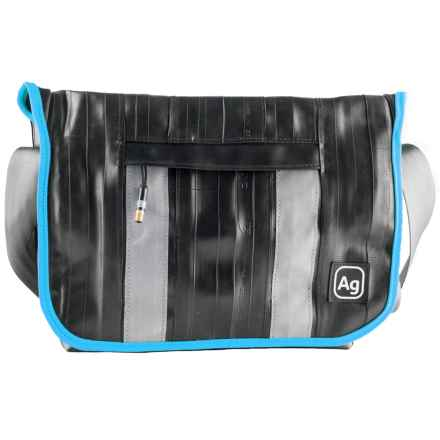 Alchemy Goods Pine Messenger Bag - Upcycled Bike Tube in Turquoise - Closeouts