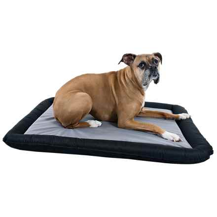 """alcott Essentials Rugged Bolster Dog Bed - Large, 40x28"""" in Black/Grey - Closeouts"""