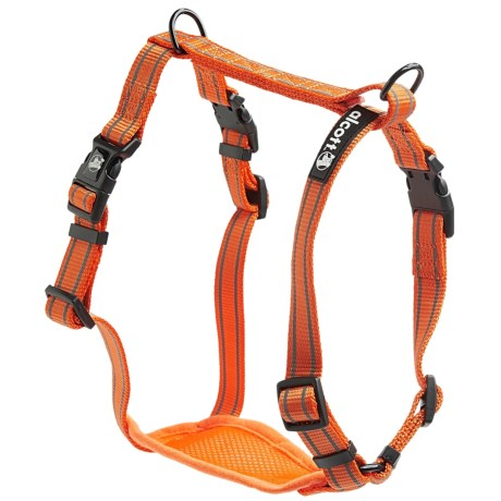 alcott Essentials Visibility Dog Harness in Neon Orange