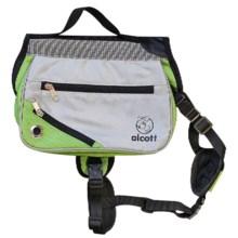 alcott Explorer Adventure Backpack Dog Pack - Medium in Grey/Green - Closeouts