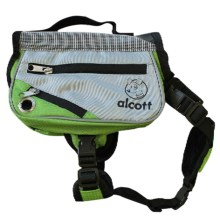 alcott Explorer Adventure Backpack Dog Pack - Small in Grey/Green - Closeouts