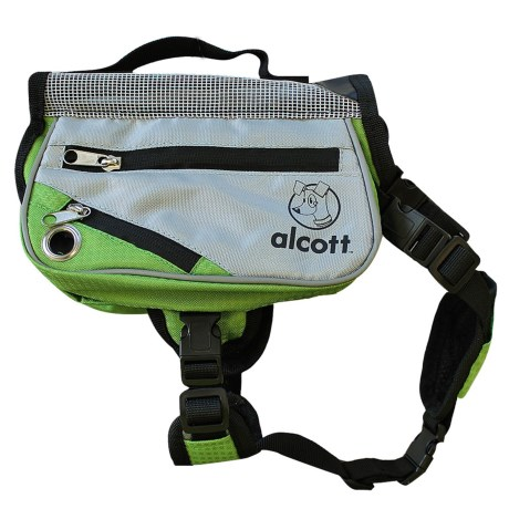 alcott Explorer Adventure Backpack Dog Pack - Small in Grey/Green
