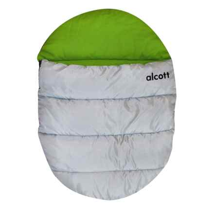 alcott Explorer Dog Sleeping Bag - Medium in Green/Grey - Closeouts