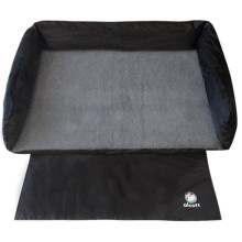 "alcott Traveler Trunk Dog Bed - 37x30"" in Black/Grey - Closeouts"