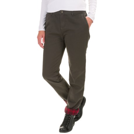 Image of Alderglen Flannel-Lined Chino Pants (For Women)